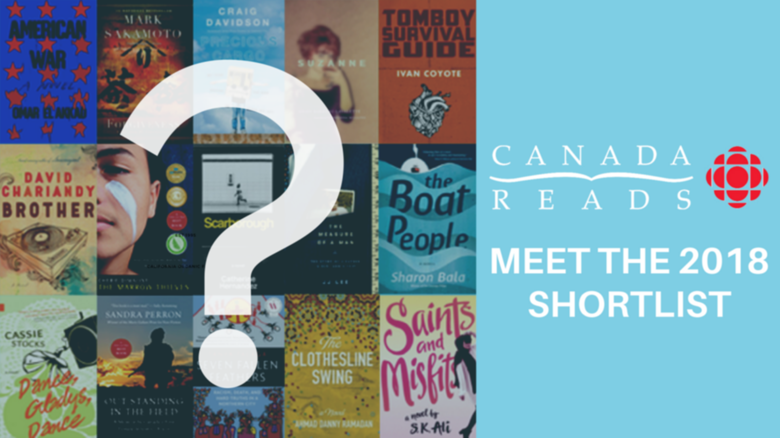 Just Announced! Canada Reads 2018Shortlist